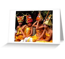 Young Dancers, Campuan, Bali Greeting Card