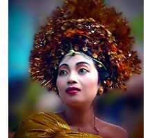 Dressed for a Balinese toohfiling, Ubud, Bali Photographic Print