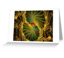 Chartreuse Fans Greeting Card