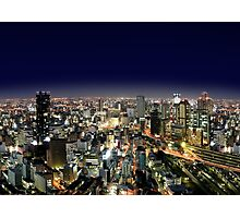 Osaka by Night - Japan Photographic Print