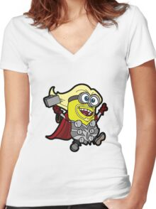 Minions Assemble - Lord of Thunder, Prince of Mingard Women's Fitted V-Neck T-Shirt