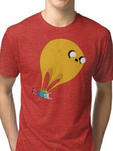 Finn and Jake-Balloon Tri-blend T-Shirt
