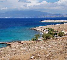 Ftenagia beach, Halki by David Fowler