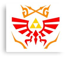 Zelda - Hylian Shield Pattern Canvas Print