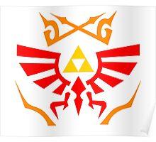 Zelda - Hylian Shield Pattern Poster
