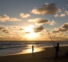 Fishing at Beachport by MissSani