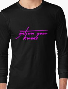The Pinkprint: Get On Your Knees [Song Titile] Long Sleeve T-Shirt