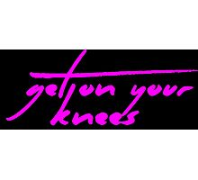 The Pinkprint: Get On Your Knees [Song Titile] Photographic Print