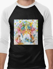 WATERCOLOR BASSET HOUND Men's Baseball ¾ T-Shirt