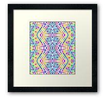 Tribal kaleidoscope. Framed Print