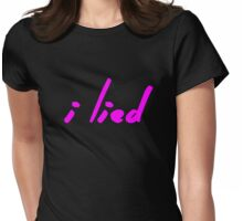 The Pinkprint: I Lied [Song Titile] Womens Fitted T-Shirt
