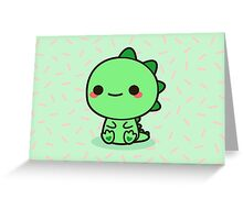 Kawaii Dinosaur Greeting Card