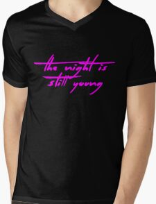The Pinkprint: The Night Is Still Young [Song Titile] Mens V-Neck T-Shirt