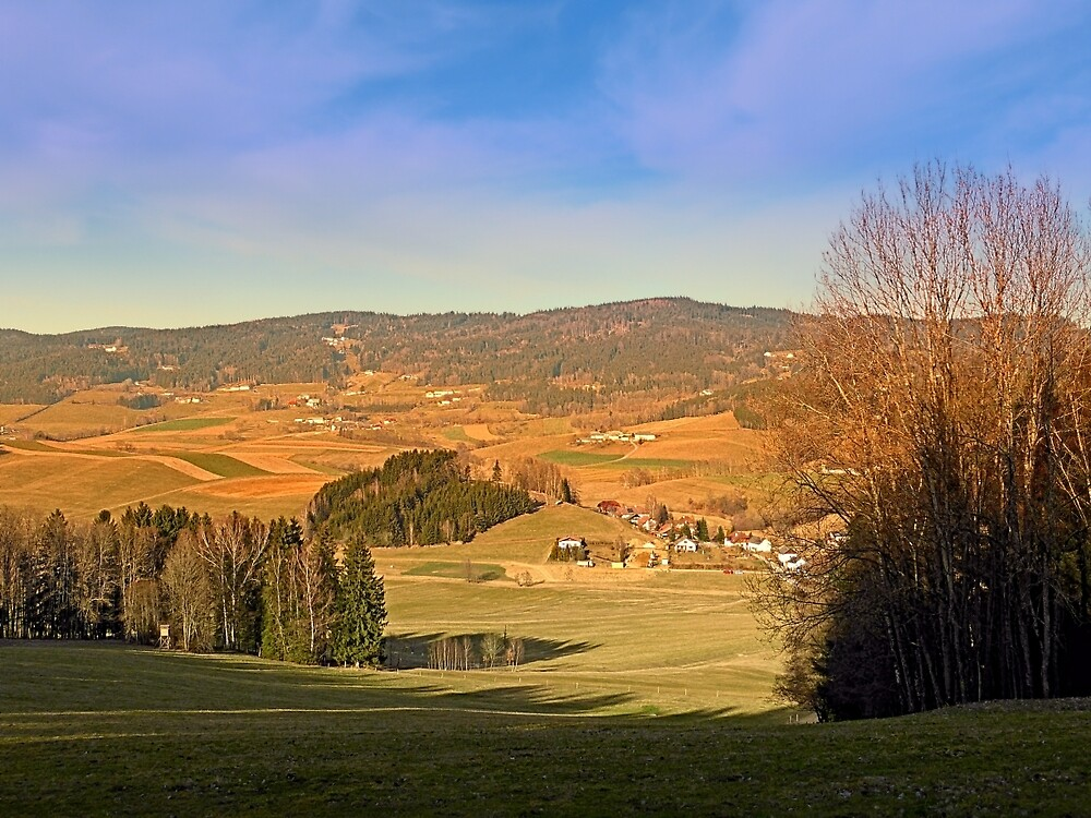 Peaceful panorama with warm colors   landscape photography by Patrick Jobst