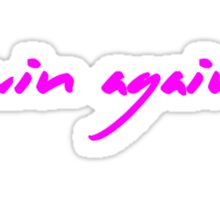 The Pinkprint: Win Again [Song Titile] Sticker