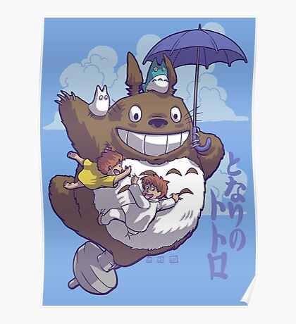 Totoro in Flight Poster