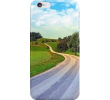 Apple trees along the country road | landscape photography iPhone Case/Skin
