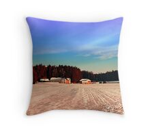Amazing vivid winter wonderland | landscape photography Throw Pillow