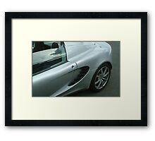 Silver and Slick Framed Print