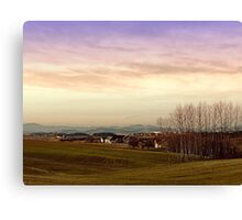 Beautiful panorama under a cloudy sky | landscape photography Canvas Print