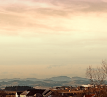 Beautiful panorama under a cloudy sky | landscape photography Sticker