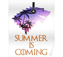 Summer is Coming Game Of Thrones Wolf Jon Snow  Poster