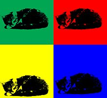 Pop Art Tabby Cat by ValeriesGallery