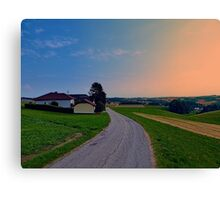 Country road on a summer afternoon II | landscape photography Canvas Print