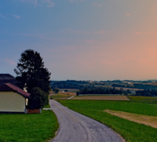 Country road on a summer afternoon II | landscape photography Sticker
