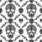 Black Floral Sugar Slull by artonwear