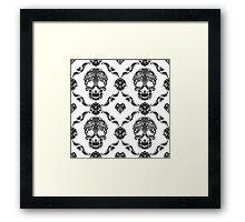 Black Floral Sugar Slull Framed Print