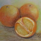 Fresh and delicious- Pastel Painting by Esperanza Gallego