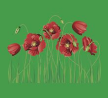 Poppy with Grass Baby Tee