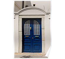 Santorini Blue Door Poster