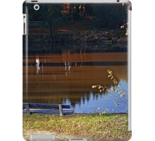 Romantic bench at the pond II | waterscape photography iPad Case/Skin