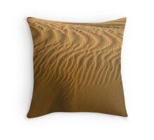 Dune in Sahara Throw Pillow