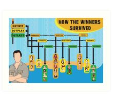 Survivor Winners Infographics Art Print