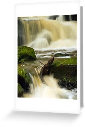 Waterfall at Earby, Lancashire. by Steve  Liptrot