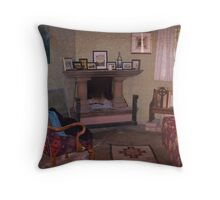Old Church Sitting Room Throw Pillow