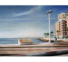 Spanish Coast Oil on Canvas Photographic Print