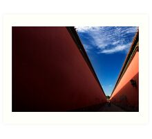 Red Corridor - The Forbidden City, China Art Print