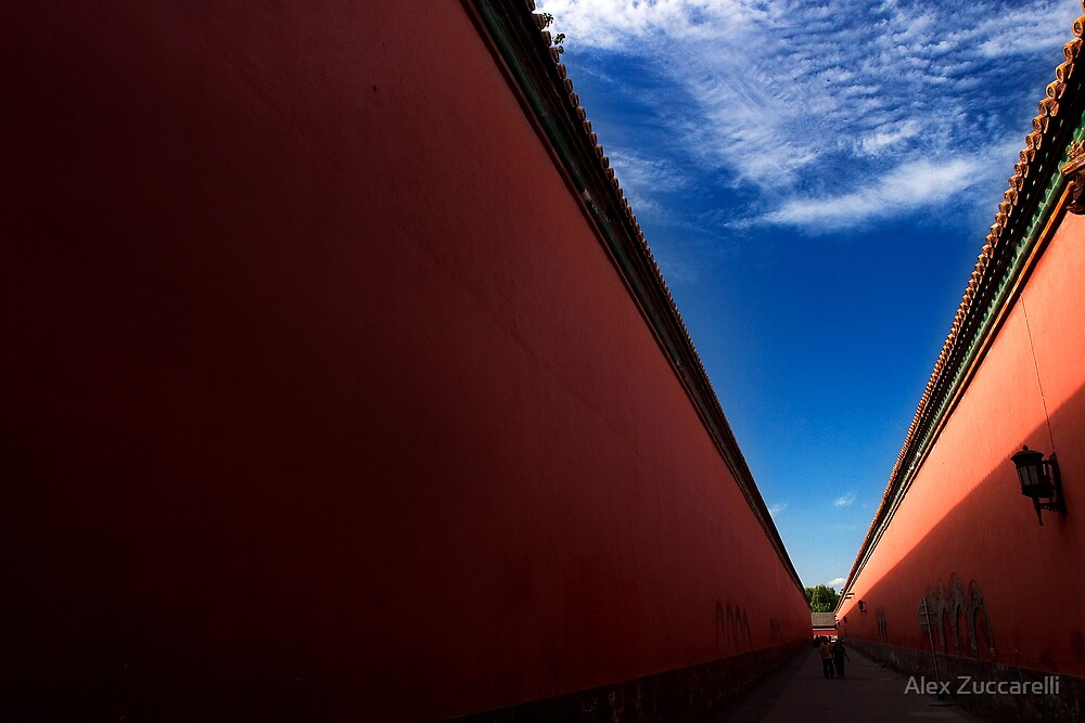 Red Corridor - The Forbidden City, China by Alex Zuccarelli