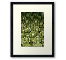 Little Buddhas - Cheongdo, South Korea Framed Print