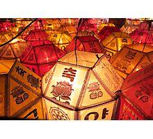 Samgwang Lanterns - Samgwang Temple, South Korea Photographic Print
