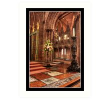 Chester Cathedral Interior III Art Print