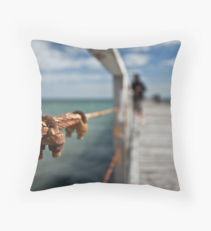 Rusting Jetty Throw Pillow