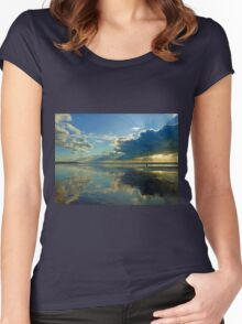 Freshwater West - Golden Light Women's Fitted Scoop T-Shirt