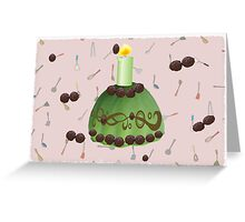 green tea pudding Greeting Card