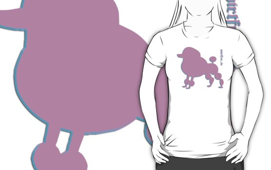 Poodle - Pudel - ... in pink by fuxart