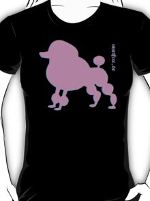 Poodle - Pudel - ... in pink T-Shirt